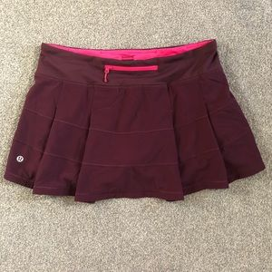 Lululemon Pace Rival Skirt II Reg *4-way Stretch